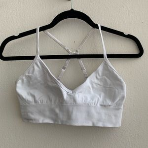 Lululemon White Ebb to Street Bra Size 8